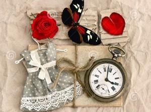 vecchi-cartoline-di-amore-e-fiore-della-rosa-rossa-38811129